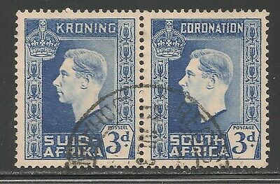 South Africa #77 (A22) VF USED - 1937 3p King George VI - Coronation