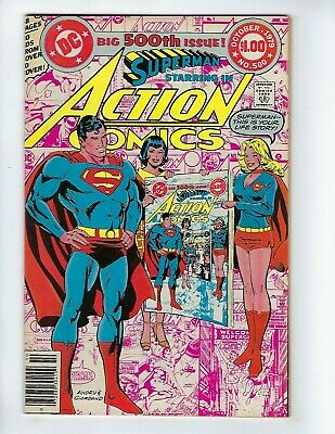 ACTION COMICS # 500 (SUPERMAN, Infinity Cover, OCT 1979), FN/VF