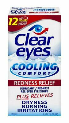 Clear Eyes | Cooling Comfort Redness Relief Eye Drops | 0.5 Fl Oz | Pack Of 3