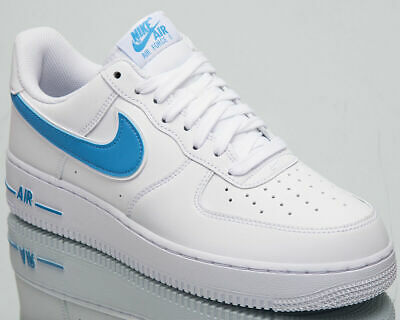 best service f53fa c0e1e Nike Air Force 1  07 3 Men s White University Blue Sneakers AO2423-100 size