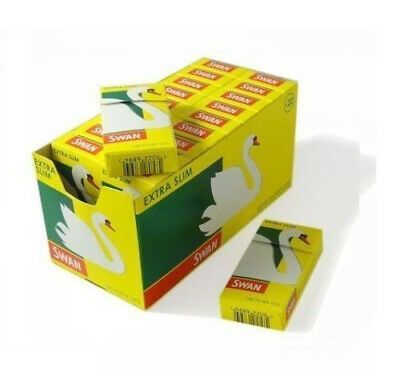 New Swan 600x  Extra Slim Filter 5 Packs  120 Tips, Paper, Yellow