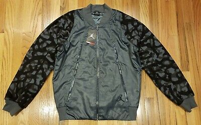 e7902f8d69a5 Nike Men Air Jordan Flight Member Jacket Sz M Gray Camo 706724-010  Thespot917