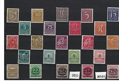 #3511    MNH Stamp collection / Early Germany / Pre Third Reich / All MNH stamps