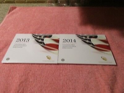 2013 and 2014 US MINT ANNUAL UNCIRCULATED DOLLAR COIN SET