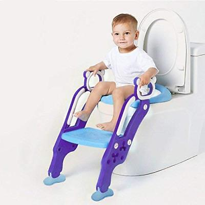Toilets Seat with Step for Toddlers,Adjustable Potty Training Seat Sturdy Non-Sl