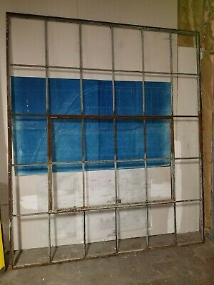 Reclaimed Vintage Industrial Factory Steel Casement Window ENORMOUS, 30 LIGHT
