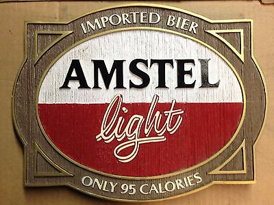 """Amstel Light Beer Signs - """"Imported Bier"""" - Man Cave Bar Party - NOS"""