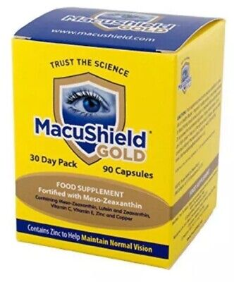 Macushield Gold 30 day pack  X 90 Capsules food suppliment with meso zeaxanthin