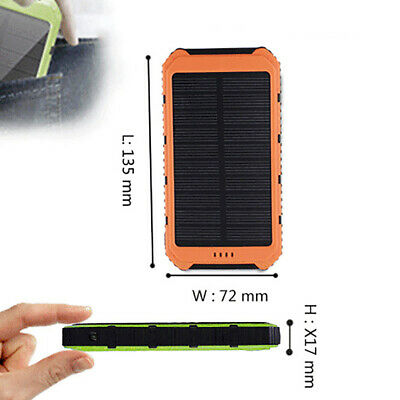 Dual USB Port Waterproof Solar Portable Charger Case Cover Parts For Power Bank