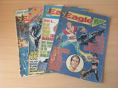 Bundle of Four 1989 Eagle and Wildcat Comics