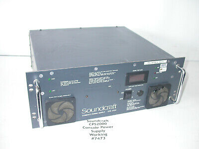 SOUNDCRAFT CPS 450/B Console Power Supply - Parts or Repair - $80 00