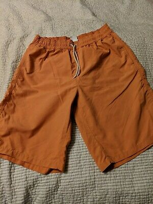 21d07d4583e8f LACOSTE SWIM SHORTS Color Yellow Sz Medium NWT Front Pockets Back ...