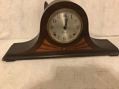 Antique Sessions Inlay No 5 Eight day-Half hour Strike Mantle Clock for parts or