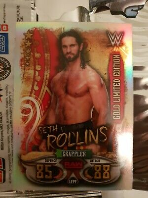 Seth Rollins - Topps WWE Slam Attax LIVE 2018 Gold Limited Edition LEPH