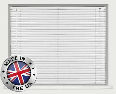 BLACK / WHITE PVC VENETIAN BLINDS - 10 Widths and 2 Max Drops Available. QUALITY