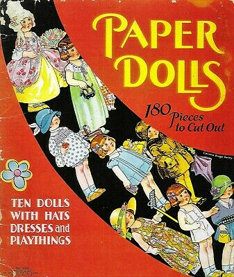 VINTAGE UNCUT 1932 PAPER DOLLS~#1 REPRODUCTION~8 PAGES CLOTHING~EXTREMELY RARE!