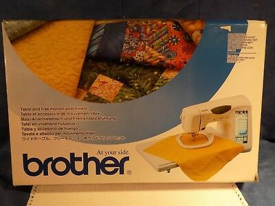 BROTHER SATFM2004 TABLE AND FREE MOTION ATTACHMENT - Excellent - Orignal Box