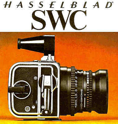 HASSELBLAD SWC CAMERA BROCHURE -Hasselblad swc from 1977 Hasselblad
