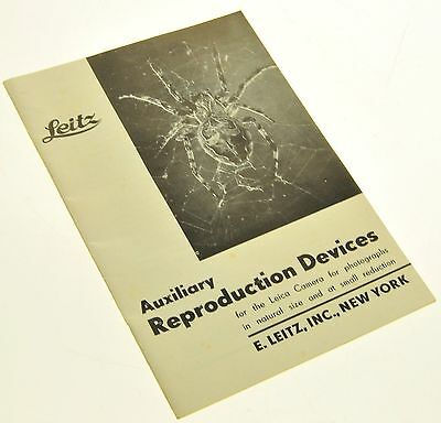 1935 LEICA AUXILIARY REPRODUCTION DEVICE BROCHURE -LEITZ-from 1935