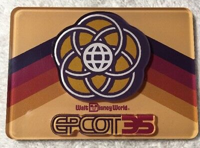 Disney Parks Epcot 35th Anniversary Acrylic Magnet