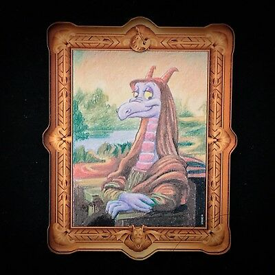 Figment Mona Lisa Masterpiece Painting Magnet Disney Epcot Festival of Art X Pin