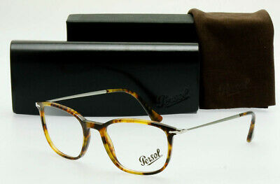 05f6506249554 PERSOL PO3146V 108 Square Light Havana RX EYEGLASS FRAME Unisex 51mm Italy
