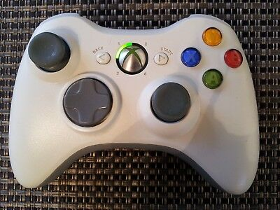 Official Genuine Microsoft Xbox 360 Wireless Controller White ~ Tested & Cleaned