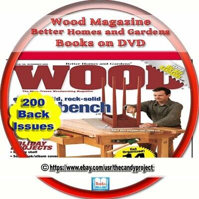 200 Pdfs Wood Magazine Home Hobby Woodworker  Carpentry Carving Carpenter 2 DVD