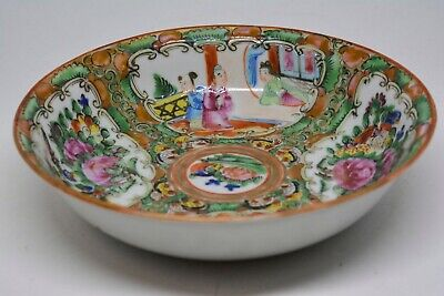 Antique Chinese Export Rose Medallion Bowl - 5.5 inches wide and 1.25 tall - 🐘