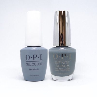 "OPI GelColor Soak-Off Gel Polish + Infinite Shine ""Ring Bare-er #GCSH6"""