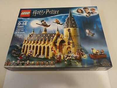 LEGO 75954 Harry Potter Hogwarts Great Hall Wizarding World 878 Pieces New 2018