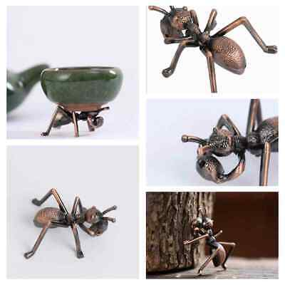 New Old Chinese Bronze Copper Fengshui Wealth Animal ant Statue