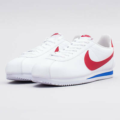 518659bed New Nike Men's Classic Cortez OG Leather Shoes 10.5 White/Red-Royal 749571-