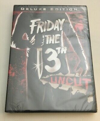 ❤️Friday the 13th Part 1 CLASSIC KEVIN BACON 1980 Deluxe Edition Uncut DVD