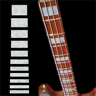 Inlay Stickers Decals Fret Markers For Guitar & Bass Jazz Bass Block Fender - WP