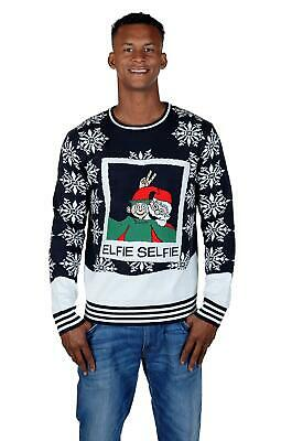 148dcf7f3f92 ELFIE UGLY CHRISTMAS Sweater Party Womens Size Medium Take a Selfie ...