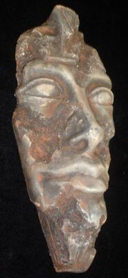 Vintage Egyptian Pharaoh Akhenaten Wall Plaque Plaster Antique Finish