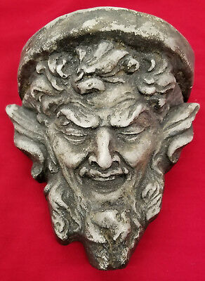 Gargoyle Mythical Face Wall Plaque Limited Antique Reproduction Honky Punks