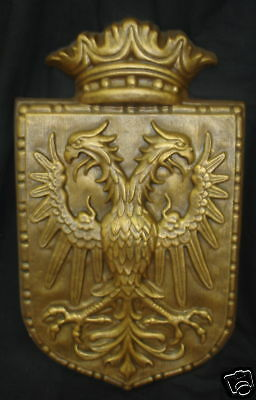 Double Headed Eagle Crest Shield Coat Arms Herald 24452