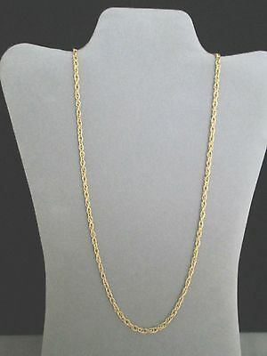 Necklace 27.75 in. x 4MM Gold tone Plated Double Cable New Stainless Steel Chain