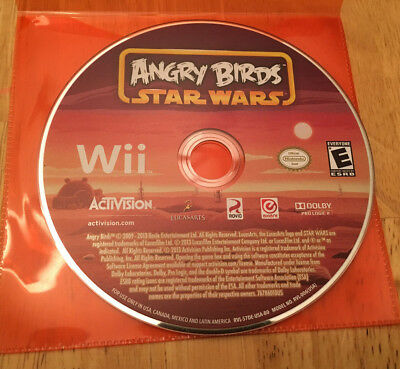 Angry Birds Star Wars (Nintendo Wii, 2013) GAME ONLY