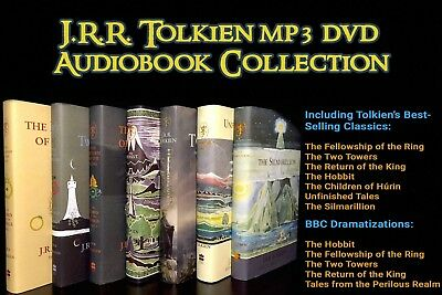 J.R.R. Tolkien Audiobook DVD Collection! Lord of the Rings (16 MP3 Audiobooks)