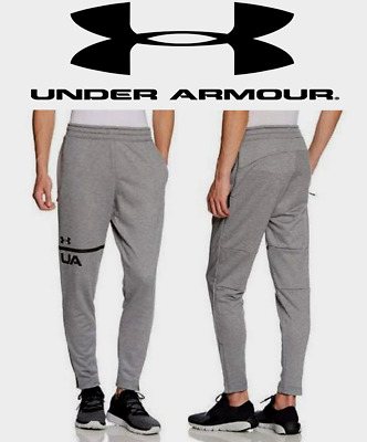 UA Under Armour Mens French Terry Fitted Tapered Pants 2XL -XXL- Grey 1306447035