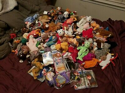 fcccfcdc7ff HUGE LOT OF TY BEANIE BABIES 168+