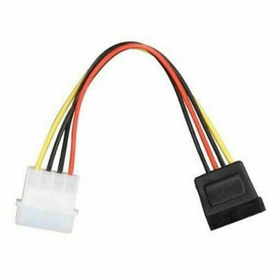 1PCS Male Female 4 Pin Power Drive Adapter Cable to Molex IDE SATA 15-Pin TOP