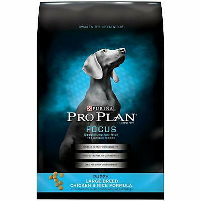 Purina Pro Plan ~ Focus Large Breed Puppy Food ~ Chicken & Rice ~ 34 lb !!!