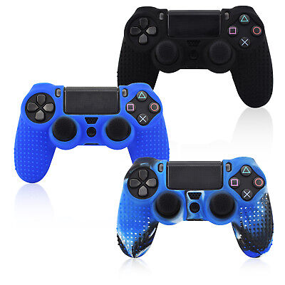 Silicone Case Cover Skin + Grip For Dualshock 4 PS4 Pro Slim Controller Joystick