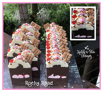 ROCKY ROAD HANDMADE CP SOAP - approx 170g - BIG BIG BIG ! ... MOTHERS DAY