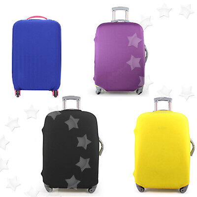 """26-30"""" Luggage Protector Elastic Protective Suitcase Dustproof Cover Bag YELLOW"""