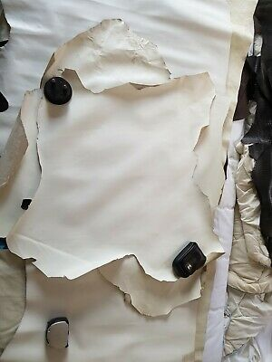 White Leather Hide